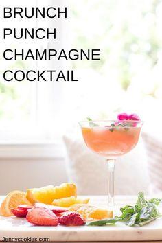29 Ideas For Brunch Cocktails Easy Brunch Punch, Brunch Drinks, Cocktail Party Appetizers, Cocktail Recipes, Punch Recipes, Drink Recipes, Champagne Breakfast, Sweet Tea Recipes, Easy Summer Cocktails