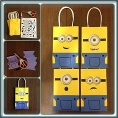 Minion bags. Use for template to do front door.