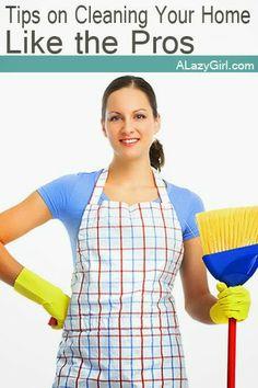 Consejos para la limpieza de su hogar como un profesional   una chica Lazy