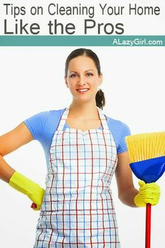 Tips on Cleaning Your Home Like a Professional |a Lazy Girl