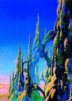 """Progressive Rock [img] """"The Ladder"""", by Roger Dean* This is. Patrick Nagel, Yes Album Covers, Art Science Fiction, Classic Rock Albums, Roger Dean, Arte Sci Fi, 70s Sci Fi Art, Progressive Rock, Fantasy Landscape"""