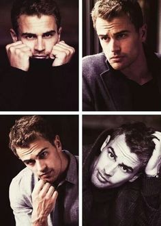 Idk where this gorgeous man came from but I'll take three! He is the perfect Four! Theo James ♡ He is so sexy :3 :D <3