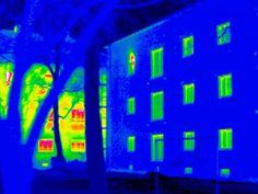 cool photograph taken using infrared thermal imaging camera