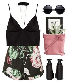 Short preto floral