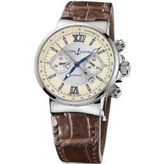 Ulysse Nardin Maxi Marine Mens Chronograph Date Automatic Stainless Steel 353-66/314
