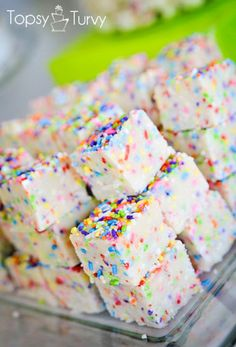 Cake Batter Fudge - super easy! Made with xmas sprinkles, really good if you like cake batter, turns out I don't, but my husband/friends loved it!