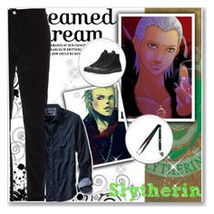 """Hogwarts Students: Hidan"" by bambolinadicarta ❤ liked on Polyvore featuring Gucci, Banana Republic, Converse, men's fashion, menswear, slytherin, hogwarts, narutoshippuden, hogwartshouse and Hidan"
