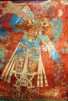 """Mesoamérica, el origen mítico del hombre  Sucedió que ocupada Tlaxcala sin combatir, los caciques responden a las preguntas de Cortés sobre sus dioses, las guerras floridas y el poder de Moctezuma desde su silla de oro. El diálogo iba de unos a otros traducidas sus palabras por las lenguas adictas, cuando Cortés """"metióles en otras más hondas"""", escribió Bernal, y """"fue que como había venido a poblar aquella tierra, y de qué parte vinieron"""". A la primera pregunta sobre los orígenes americanos…"""