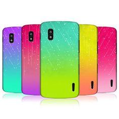 HEAD-CASE-DESIGNS-NEON-RAIN-OMBRE-HARD-BACK-CASE-FOR-LG-NEXUS-4-E960 Rain, Ebay, Design, Rain Fall, Waterfall