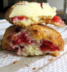 Lemon and Raspberry Buttermilk Scones Recipe here...http://vanillakitchen.blogspot.com/2009/04/raspberry-lemon-scones.html