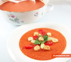 The Gazpacho Recipe, Spanish Tomato Soup | Dietary Cookery | Genius cook - Healthy Nutrition, Tasty Food, Simple Recipes