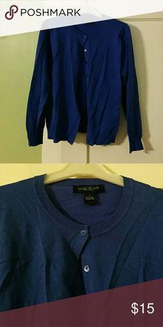 August Silk Royal Blue Cardigan Sweater Royal blue cardigan by August Silk. Matching buttons. Great for the office! august silk Sweaters Cardigans