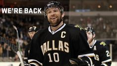 The Dallas Stars are back! SAY WHAT!!! I AM SO READY FOR SOME GOOD DALLAS HOCKEY!