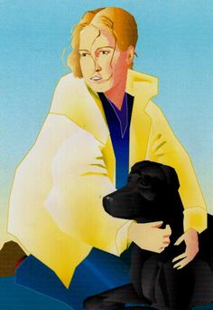 My daughter Valborg with the dog Balloo (1997)