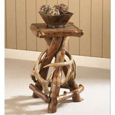 Cabela's Rustic Lodge Accent Table at Cabela's