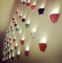 Coffee/Tea cups upcycle for lighting