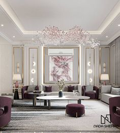 Decor Home Living Room, Living Room Designs, Classic Living Room, Luxury Interior Design, Interiores Design, Decoration, Behance, Shots, Wall