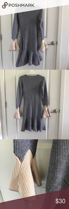 gray sweater dress long thick gray sweater, great for upcoming winter. Pretty details. Dresses Long Sleeve