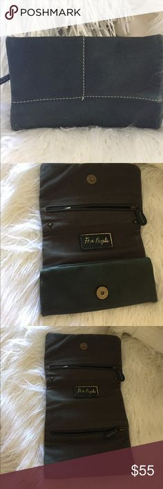 Free People Envelope Clutch or Jewelry Roll Forest Green Genuine Leather outside with a cotton blend on the inside. Folds 3 way into an envelope like clutch or jewelry roll. Free People Bags Clutches & Wristlets