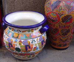 Traditional Mexican pottery