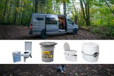 Learn about the best camper van toilet options, the pros and cons of each, and where to go to the bathroom when you live in a van. Used Camping Gear, Camping Tools, Camping Supplies, Camping Equipment, Camping Store, Van Camping, Truck Camper, Camper Van, Popup Camper