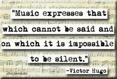 Victor Hugo Music Quote Magnet or Pocket Mirror (no.301)