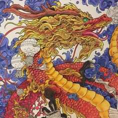 WIP Chinese dragon from #mythomorphia colored with mondeluz watercolor pencils and gel pens#арттерапия #антистрессраскраска #kerbyrosanes #antistress #coloringbook #раскраска #color #coloring #раскраскаантистресс #антистресс #colouring #beautiful #paint #карандаши #pencil #coloringbooksforadults #arttherapie #colorful #mondeluz #fairytail #adultcoloringbook #beautifulcoloring