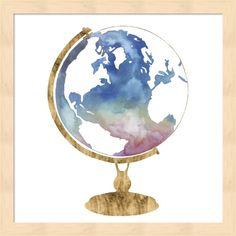 Grace Popp 'Adventure Globe I' Framed Art, Natural Art Prints, Framed Art, Globe Tattoos, Art Painting, Art Drawings, Painting, Find Art, Art, Globe Art