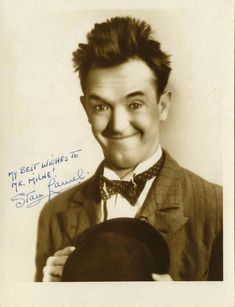 Stan Laurel (1890-1965) British-born film comedian