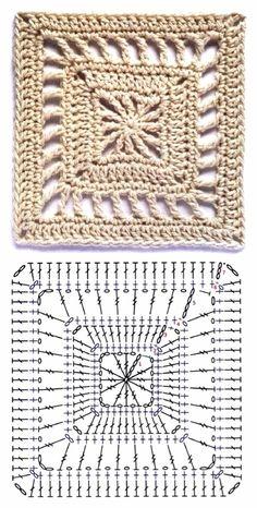 Best 12 How to Crochet a Solid Granny Square – Crochet Ideas – Page 129337820533840622 – SkillOfKing. Crochet Motif Patterns, Crochet Blocks, Granny Square Crochet Pattern, Crochet Diagram, Crochet Chart, Crochet Squares, Crochet Basics, Diy Crochet, Crochet Designs