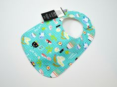 Baby Bib, Sushi Bib, Japanese Food baby bib, Gender neutral baby gift,  chopsticks, TRIPLE LAYERED / 100% COTTON/ Fits 3 months to 2 years by TextileTrolley on Etsy