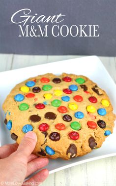 Giant M&M Cookie