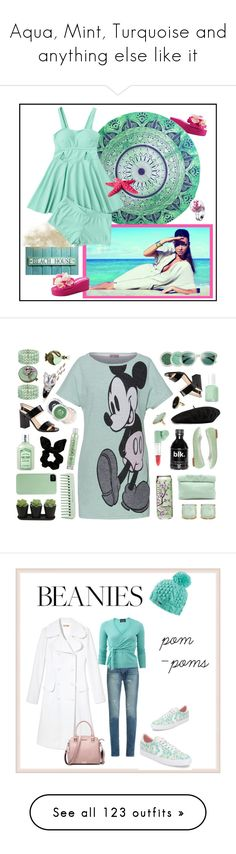 """""""Aqua, Mint, Turquoise and anything else like it"""" by edeldiva ❤ liked on Polyvore featuring Lena Hoschek, Kate Spade, Clinique, Marie Turnor, Essie, MANGO, Repetto, Gucci, Lonna & Lilly and Summit by White Mountain"""