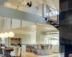 Home Decor - Bright open-plan kitchen. Loving all the natural light flooding in from those huge windows.