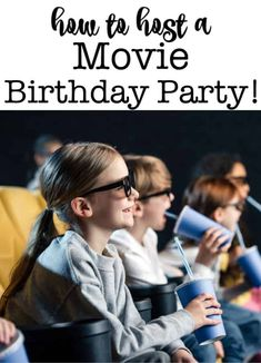 A movie birthday party is a great party theme that is perfect for kids who are past the age of treasure hunts and little kids party games, but not quite ready yet for a sleepover party! Here are my tips on how to host a movie-themed birthday party! Birthday Party At Home, Birthday Party Games For Kids, Boy Party Favors, Birthday Activities, Birthday Themes For Boys, Kids Party Themes, Sleepover Party, Birthday Party Decorations, Birthday Party Invitations