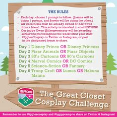 The Great Closet Cosplay Challenge with Mama Jo and Mr. Pants | International Geek Girl Pen Pals Club #IGGPPC