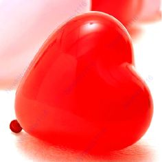 Free Shipping 1Pack 100pcs Heart Shape Balloons Occasions Wedding Birthday Party Decoration Supplies $5,38