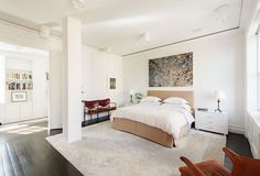 http://sandavy.com/prepossessing-suggestions-for-modern-master-bedroom-decorating-plans-concept/abstract-wall-art-for-decorated-contemporary-master-bedroom-design-ideas-white-wall-also-ceiling-that-looks-clean-and-charming-fur-carpet-wooden-stools-side-tables-teble-lamp-book-shelves-indoor-plant/