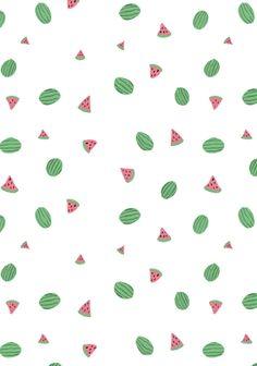 Watermelon / summer / pattern design / illustration / gouache painting