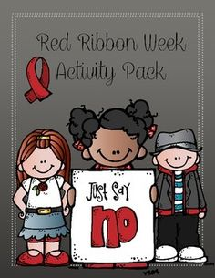 """This packet includes red ribbon week themed activities! The themes of this packet are """"Just say no"""" and """"Respect yourself, be drug free"""" Including: a page about respect, a when I grow up page, word search,ways to say no page, and a say no to drugs say yes to.."""