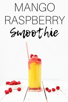 Need a healthy dairy free smoothie recipe? Try this mango raspberry smoothie! … Need a healthy dairy free smoothie recipe? Try this mango raspberry smoothie! It's made with just a few simple ingredients and makes a great healthy snack for kids or adults. Smoothie Prep, Raspberry Smoothie, Easy Smoothies, Fruit Smoothies, Cheap Clean Eating, Clean Eating Snacks, Lactose Free Diet, Menu, Healthy Snacks For Kids