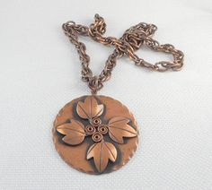 Boho Handmade Hammered oxidised copper necklace with matte gold played dove charm wedding,confirmation. festival