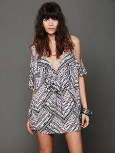 Mara Hoffman Nomad Open Shoulder Kaftan at Free People Clothing Boutique