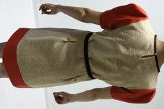 wool fabric vintage dress