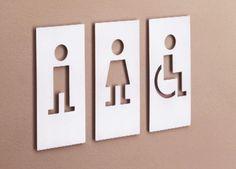WC Signage designed by JM Massana + Tremoleda Washroom Signage, Toilet Signage, Toilet Door Sign, Retail Signage, Wayfinding Signage, Signage Design, Bathroom Signs, Restroom Signs, Wc Icon