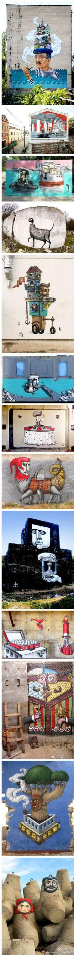 Artist :Kislow / Surreal Street Art