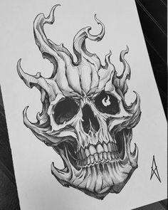 Skull Rose Tattoos, Skull Sleeve Tattoos, Black Ink Tattoos, Tattoo Sleeve Designs, Body Art Tattoos, Neo Tattoo, Dark Tattoo, Tattoo Set, Skull Tattoo Design