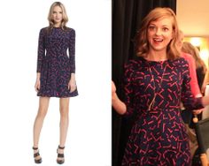 One of our favorite Glee stars, Jayma Mays, wearing the Shoshanna Carla dress!
