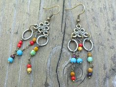 Bohemian Chandelier Earrings, Hand-made Bohemian, Vintage, Ethnic and Modern Jewelry Gift Shop. $24.00, via Etsy.