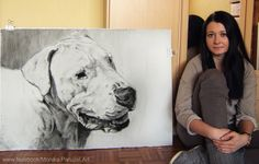 Drawing by me. Dogo Argentino ... size 100x70cm ;)